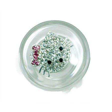 Crystal Delights Crystal Delights Kitty Delight Plug - Clear