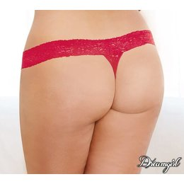 """Dreamgirl Dreamgirl """"Bare Sexy"""" Lace Thong OSX"""