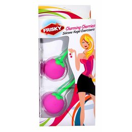 XR Brands Frisky Charming Cherries Silicone Kegel Exerciser