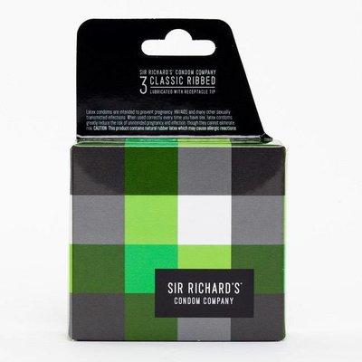 Sir Richard's Sir Richard's Classic Ribbed Condoms 3 Pack