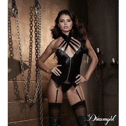 Dreamgirl Strappy Halter Bustier with Buckles OS