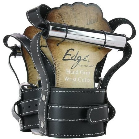 Edge Leather Hand Grip Wrist Cuffs