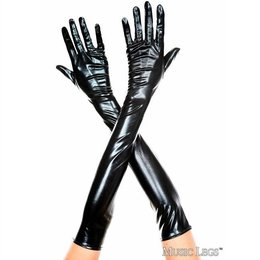 Extra Long Metallic Gloves