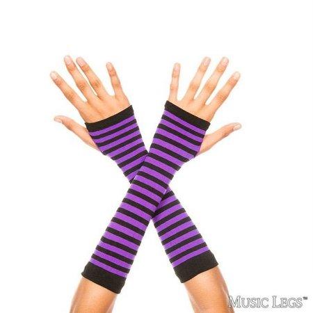 Music Legs Striped Arm Warmers
