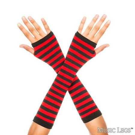 Music Legs Striped Arm Warmers