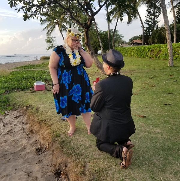 Don proposing to Chris is Maui.