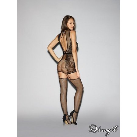 Dreamgirl Dreamgirl Knitted Lace Garter Dress OS