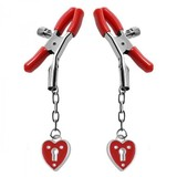 Master Series Heart Padlock Nipple Clamps