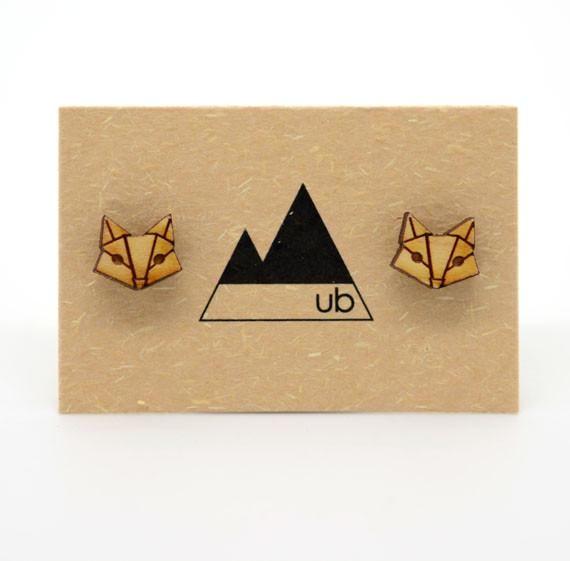 Wood Fox Studs