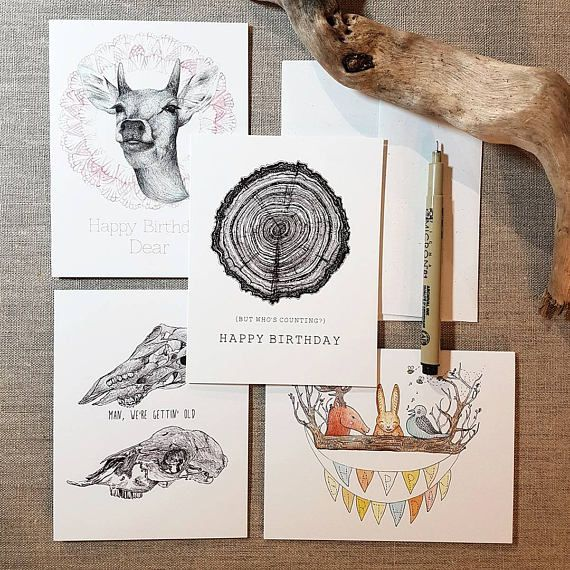 Brufatto Illustration Happy Birthday (But Who's Counting?) Card
