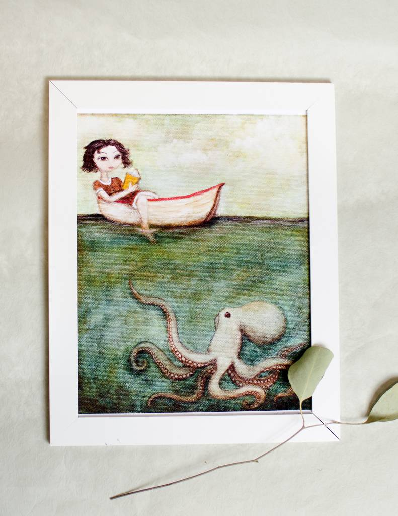 A Cagey Bee Maggie and The Octopus 8x10 Print