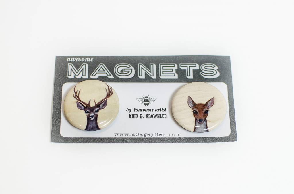 A Cagey Bee Joni & Neil Magnet Pack
