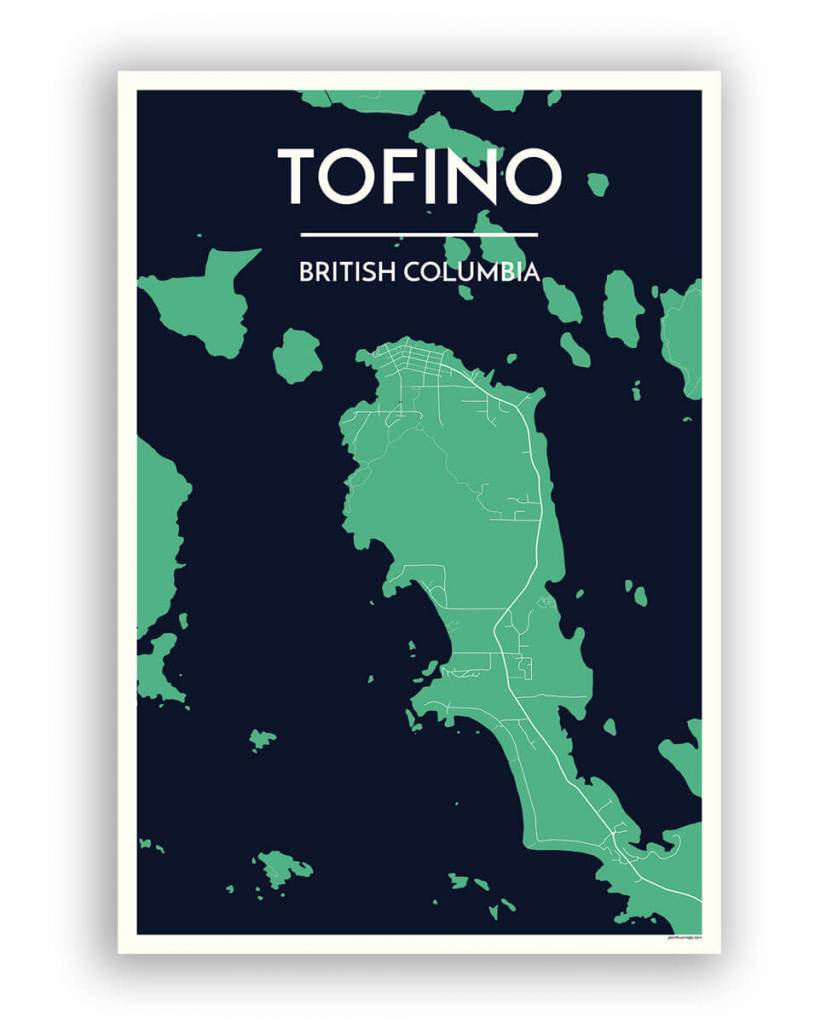 Point Two Designs Tofino Map (Meadow)