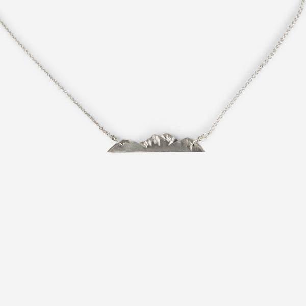 Small Mountain Range Necklace - Silver