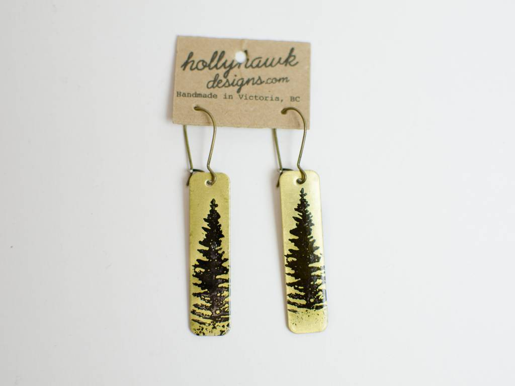 Br Pine Earrings