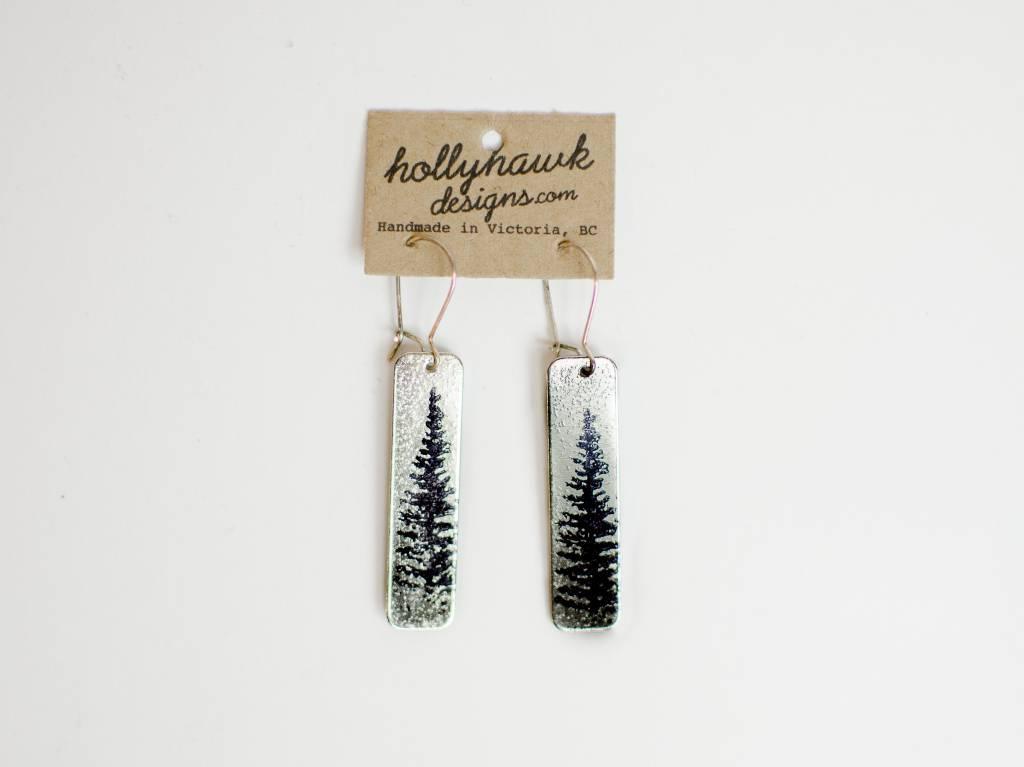 Hollyhawk Silver Pine Earrings