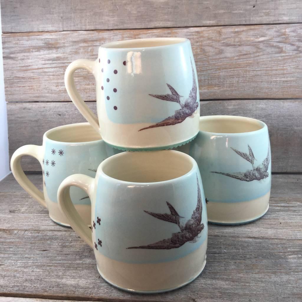 Blackbird Swallow Mug Sky