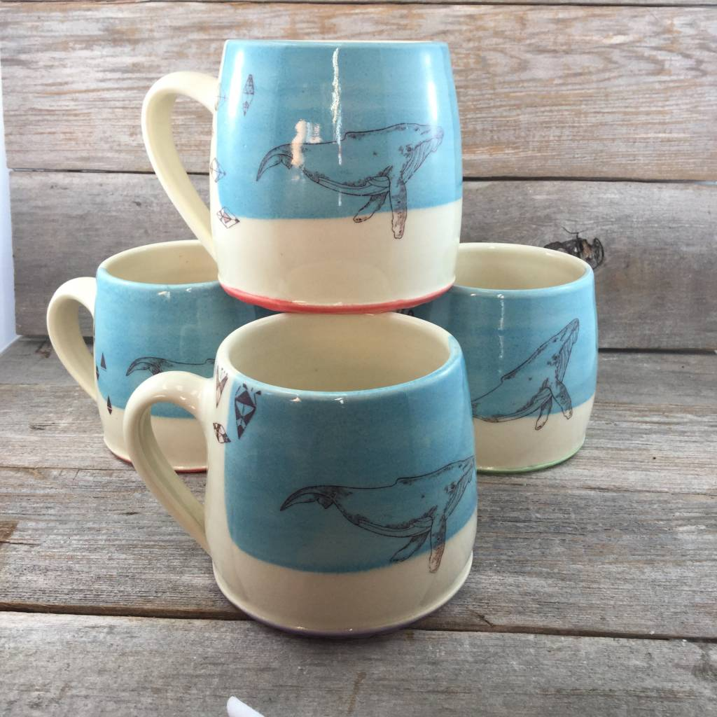 Blackbird Whale Mug Blue