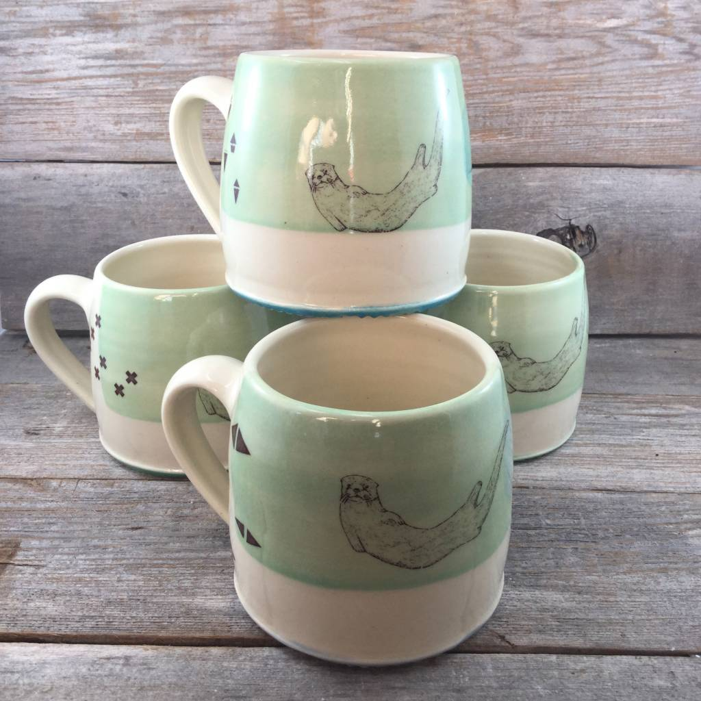 Blackbird Sea Otter Mug Green
