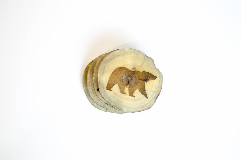Bear Coasters (x4)