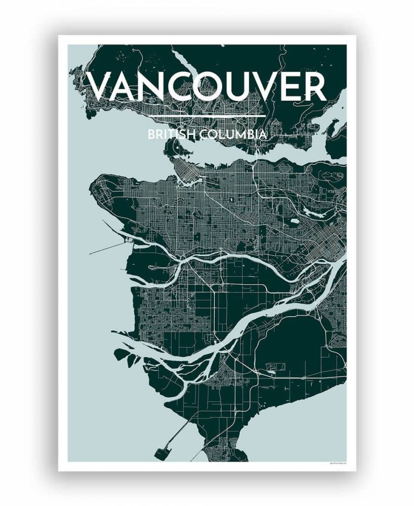 Point Two Designs Vancouver Map (Blue)