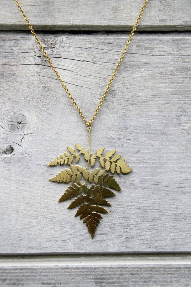 Brass Fern Necklace