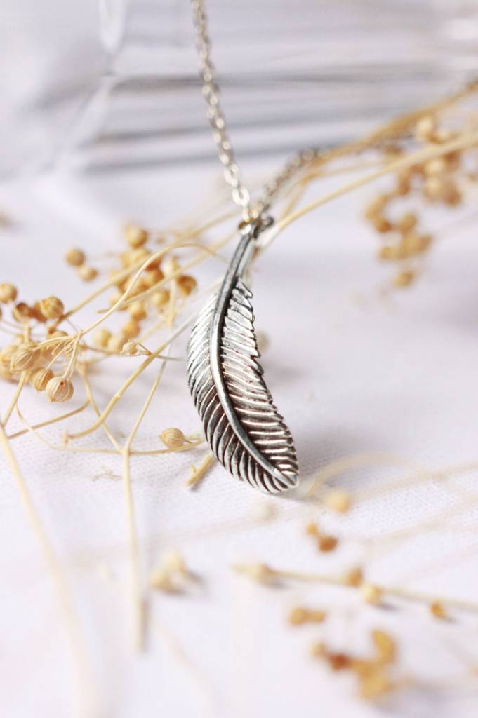 Defy (DT) Sterling Silver Feather Necklace
