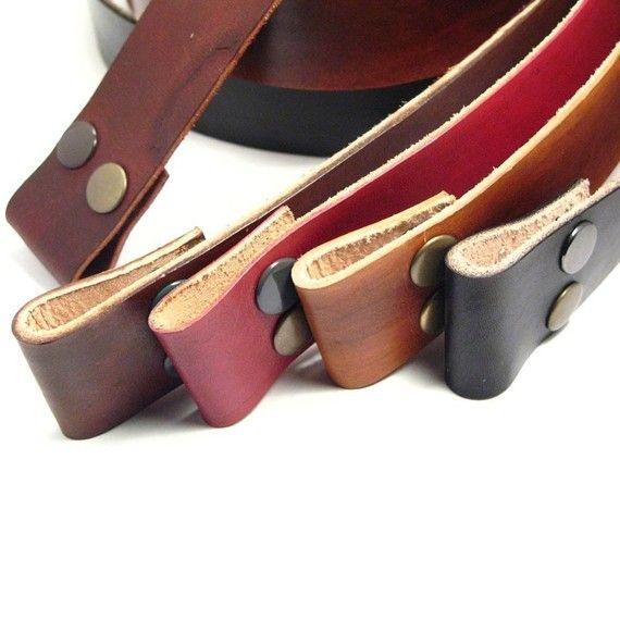 Leather Snap Belt M/L Black
