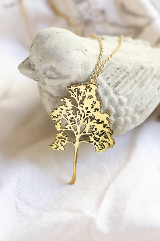 Brass Small Birch Necklace