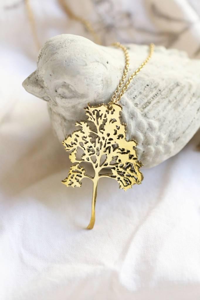 Defy (DT) Brass Small Birch Necklace