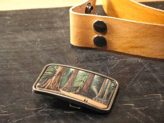 Redwood Leather Buckle