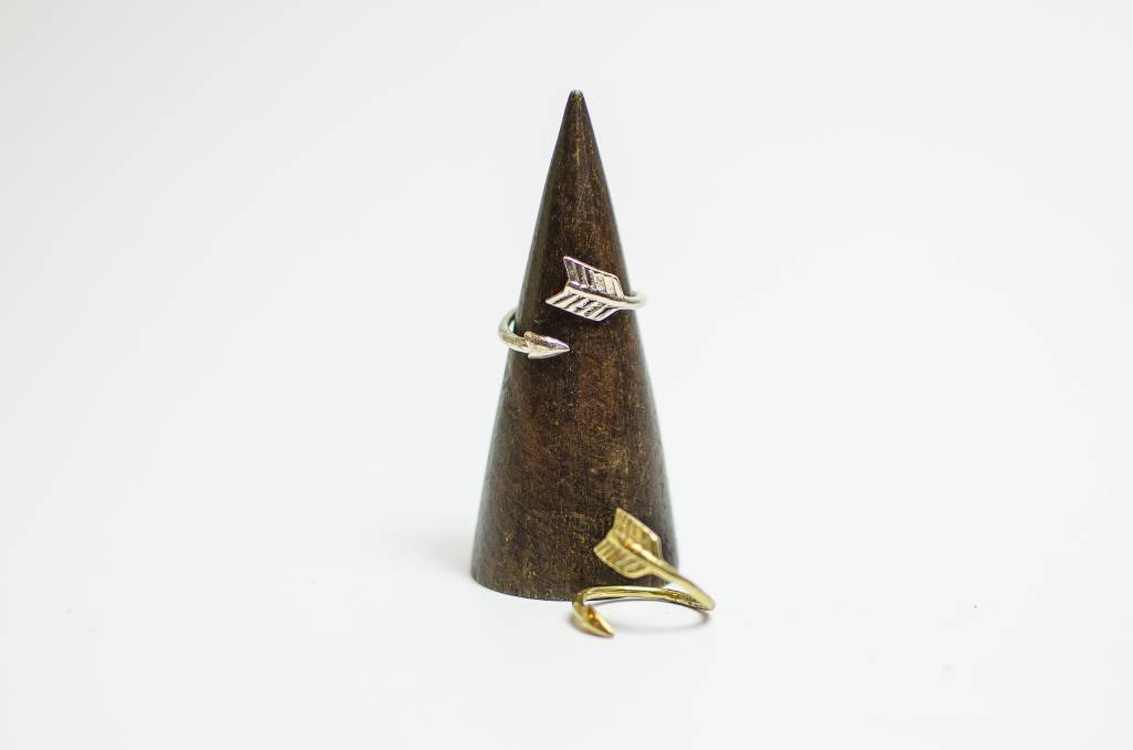 White Bronze Arrow Ring