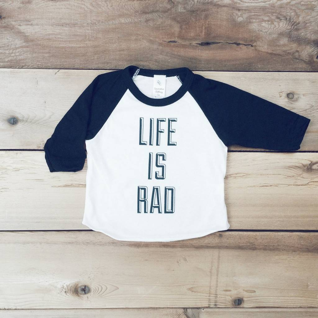 'Life Is Rad' Baseball Tee