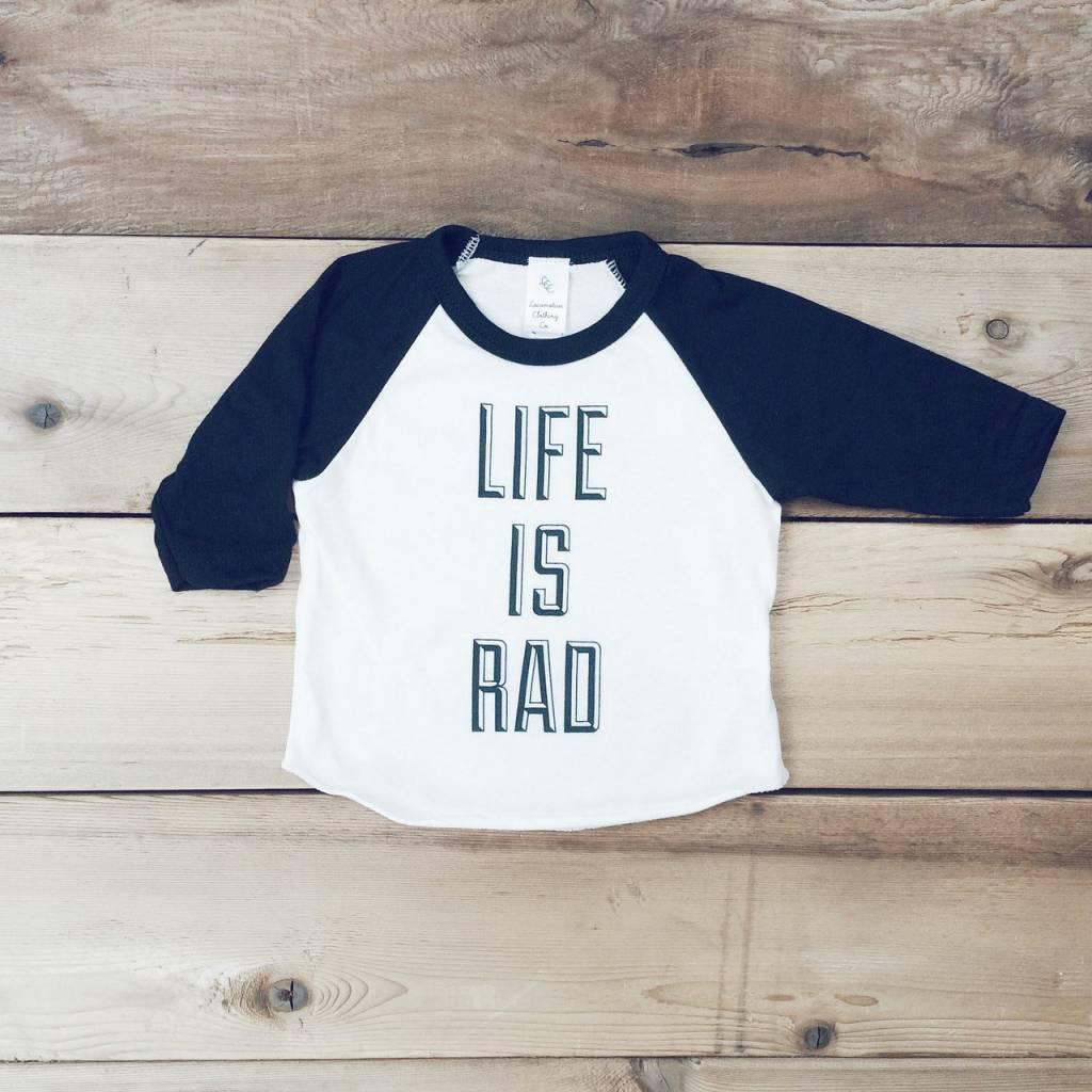 Locomotive 'Life Is Rad' Baseball Tee