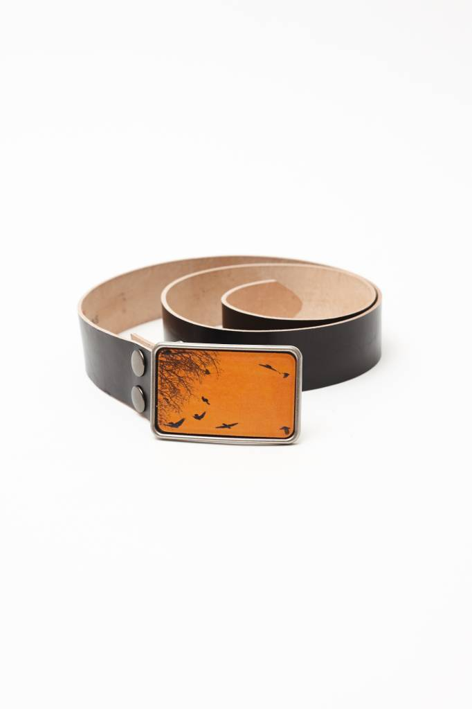 Flight Path Designs Yellow Birds Leather Buckle
