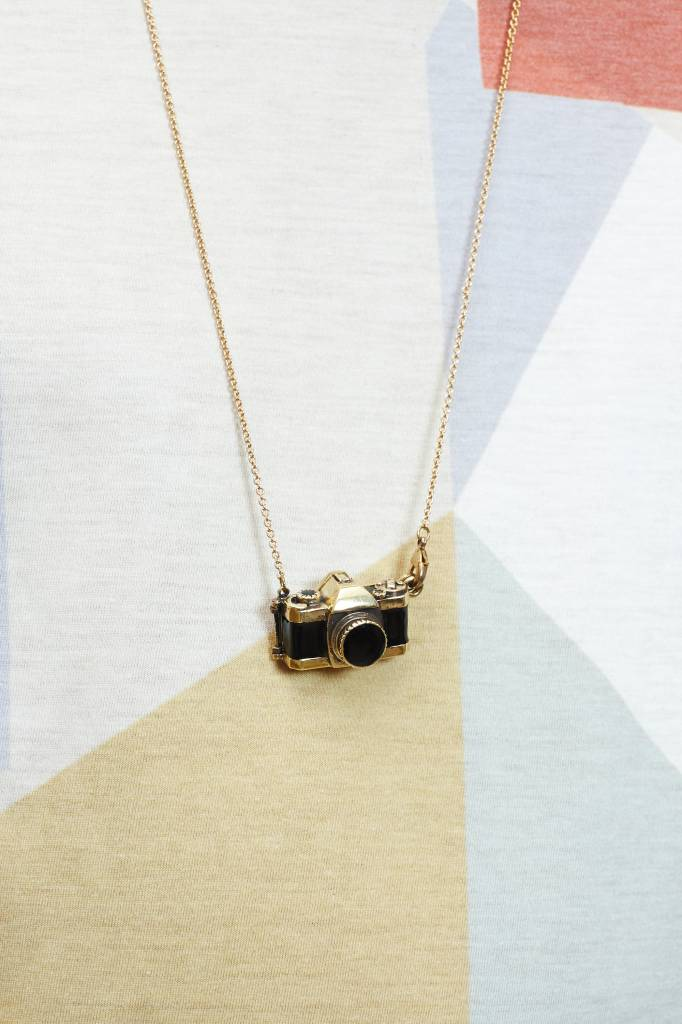 Brass Camera Locket Necklace