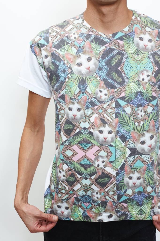 Synthesis (DT) Geometric Cat T-Shirt
