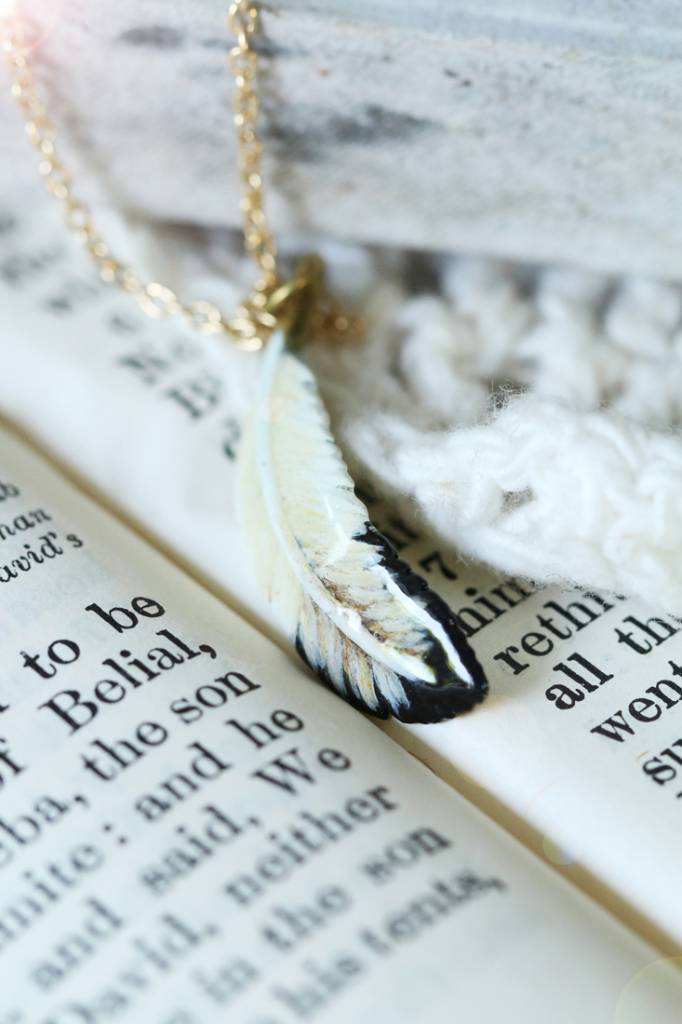 Defy (DT) Brass Feather Necklace