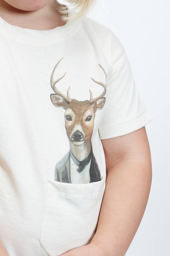 How Many T-shirts (DT) Gentleman Deer Pocket Tee