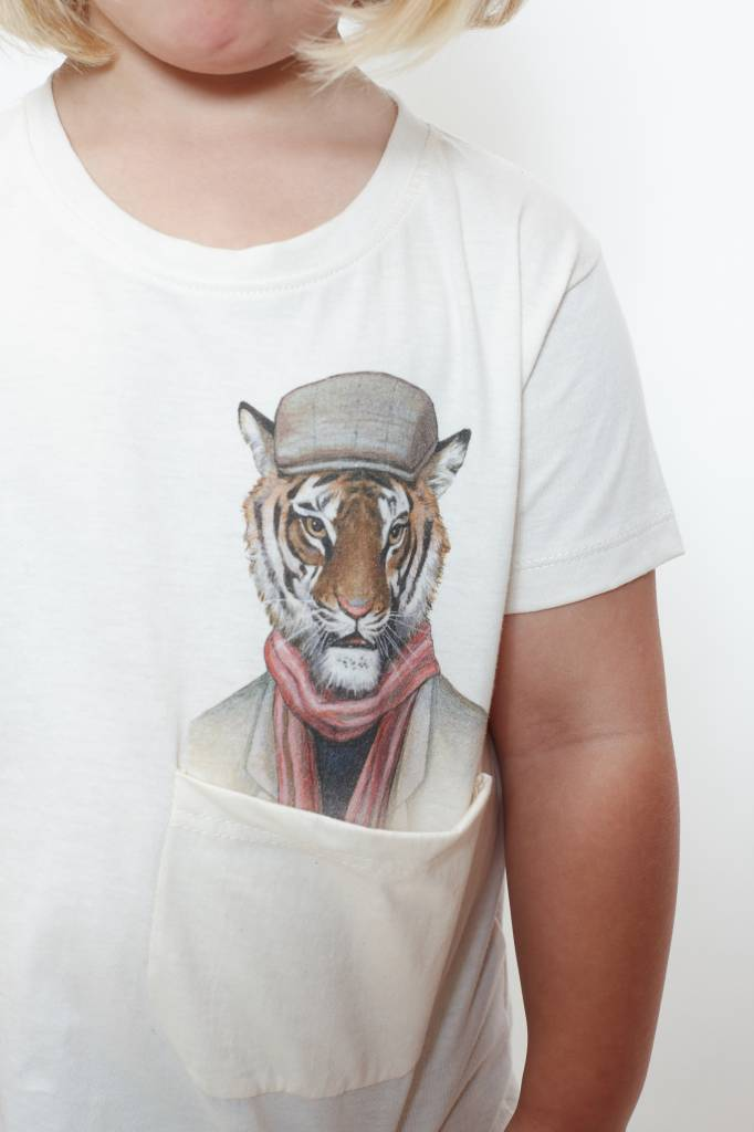 How Many T-shirts (DT) Trendy Tiger Pocket Tee