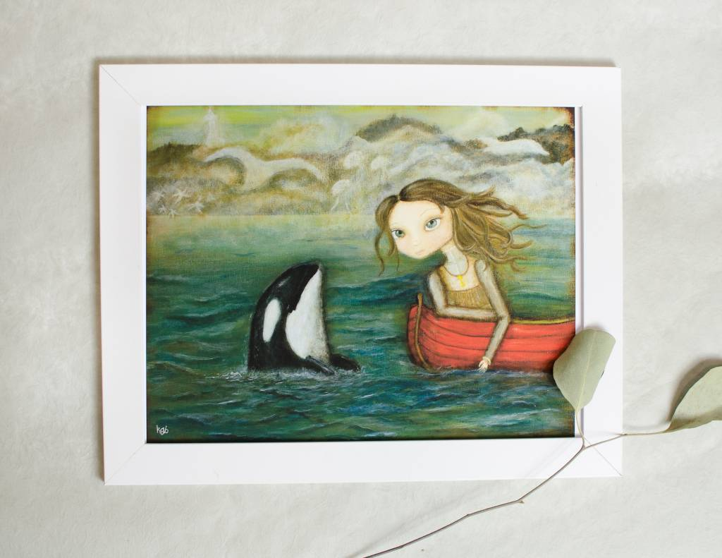 A Cagey Bee Sarah and The Orca 8x10 Print