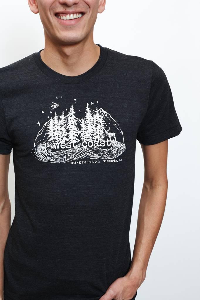 West Coast Charcoal T-Shirt Man (Black)
