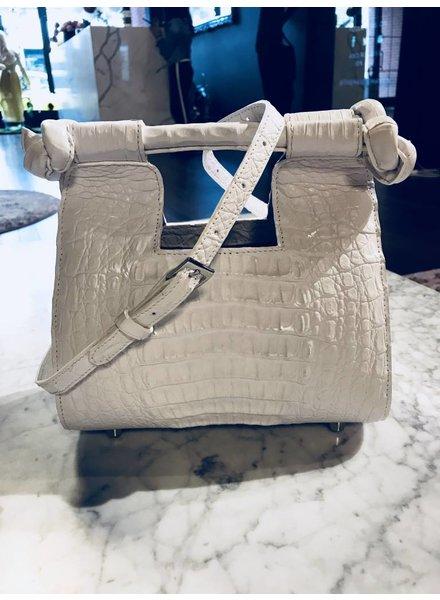 Jacqueline Grace Knot Bag in Crocodile
