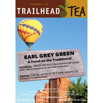 Tea from China Earl Grey Green