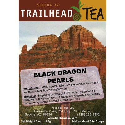 Tea from China Black Dragon Pearls