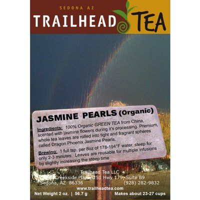Tea from China Dragon Phoenix Jasmine Pearls, Organic Nonpareil