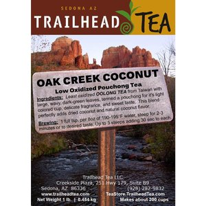 Tea from Taiwan Oak Creek Coconut