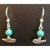 Jewelry Wachter Jewelry - Teapot Silhouettes; Silver, Sterling Silver Ear Wires with tourq bead
