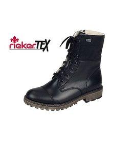 Rieker Y6723-00 - RIEKER BOTTES IMPERMÉABLE - NOIR