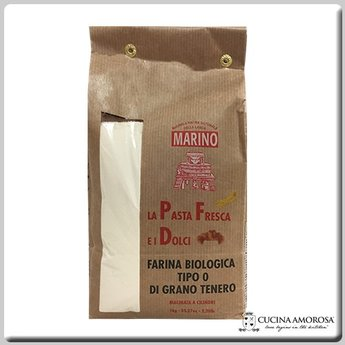"""Mulino Marino Mulino Marino Organic Flour Pasta and Baking Type """"0"""" 2.2 Lbs (1kg)"""